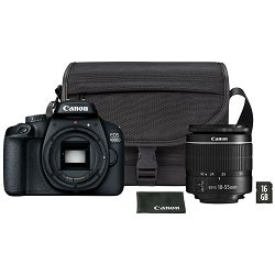 Canon Digitalni fotoaparat EOS 4000D BK 18-55 + SB130 + 16GB