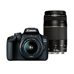 Canon Digitalni fotoaparat EOS 4000D BK 18-55+75-300