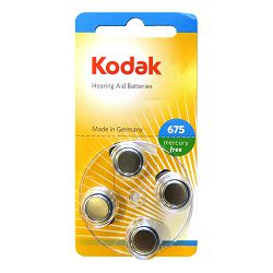 Kodak Baterija za slušni aparat Zink Air KP675-4P