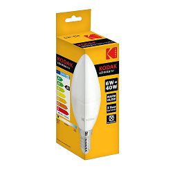 Kodak Žarulja LED C37 E14 480lm Warm 6W/40W Non Dim IC Driver