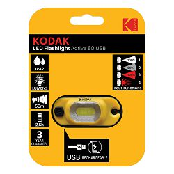 Kodak LED Flashlight Active  80 USB ( Rechargeable Headlamp)
