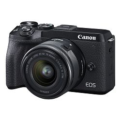 Canon Mirrorless Camera EOS M6 Mark II + EF-M 15-45mm f/3.5-6.3 IS STM + EVF