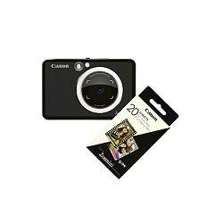 Canon Printer ZOEMINISMBK30SHEETS Zoemini S Black + 20 sheets of paper