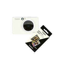 Canon Printer ZOEMINISPW30SHEETS Zoemini S PearWhite + 20 sheets of paper
