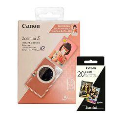 Canon Printer INST CAM PRINTER ZOEMINI S Rose Gold+30 SHEETS