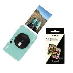 Canon Printer Zoemini C MINT GREEN  + 20 sheets of paper