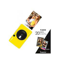 Canon Printer Zoemini C BumleBeeYellow + 20 sheets of paper