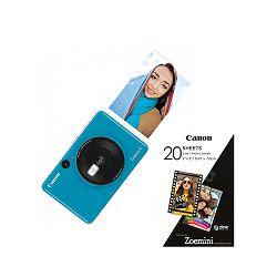 Canon PrinterZOEMINICSSB30SHEETS Zoemini C SeaSideblue + 20 sheets of paper