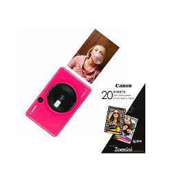 Canon Printer ZOEMINICBGP30SHEETS Zoemini C BubbleGumPink + 20 sheets of paper