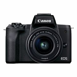 Canon Mirrorless Camera EOS M50 Mark II + EF-M 15-45mm (Black)