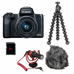 Canon Mirrorless Camera EOS M50 Mark II Vlogger KIT