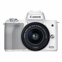 Canon Mirrorless Camera EOS M50 Mark II + EF-M 15-45mm (White)