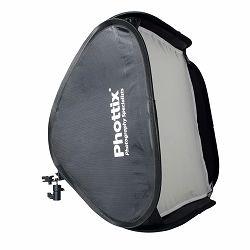 "Phottix Dodatna oprema Easy-Folder Softbox Deluxe Kit with Round Mask and Grid 60x60cm (24""x24"") / For Photo Studio Strobe Flash / Camera Flash"