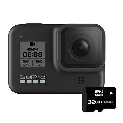 GoPro Digitalna videokamera GoPro Hero8 Black + microSD card 32GB