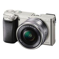 SONY Digitalni fotoaparat Alpha a6000 + E PZ 16-50mm f/3.5–5.6 OSS (Silver)