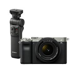 SONY Mirrorless Camera Alpha a7C + FE 28-60mm f/4-6.3 (Silver) + Shooting Grip GP-VPT2BT