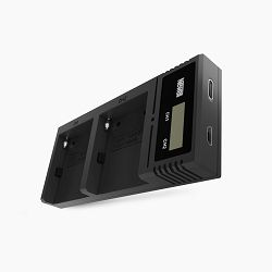 Newell DC-LCD dual-channel charger for NP-F, NP-FM series batteries