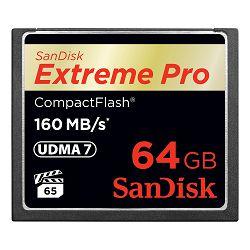 SanDisk Memorijska kartica SDCFXPS-064G-X46 Extreme Pro CF 160MB/s 64 GB VPG 65, UDMA 7