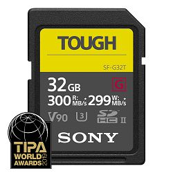 SONY Memorijska kartica SF-G32T (SFG32T) 32GB 300MB/s SDXC UHS-II TOUGH SD Card