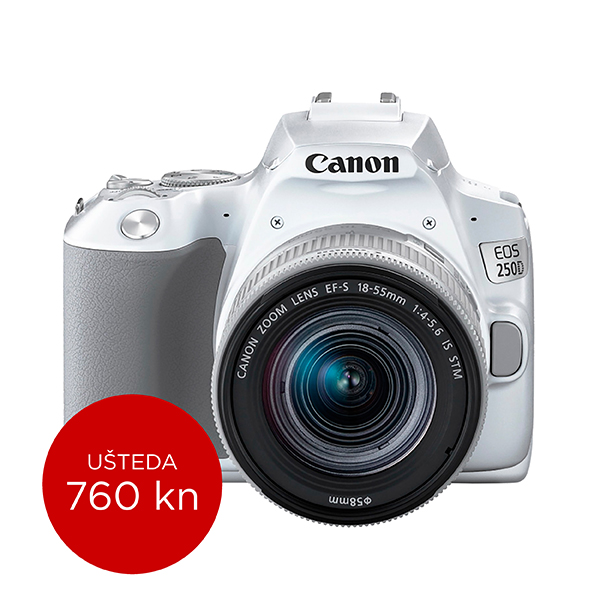 Canon Digitalni fotoaparat EOS 250D EFS 18-55 IS STM White