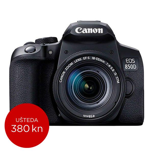 Canon Digitalni fotoaparat EOS 850D kit EFS18-55