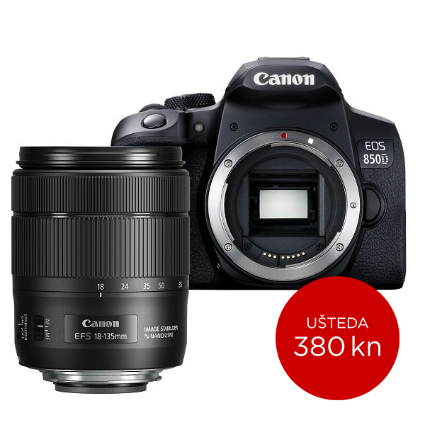Canon Digitalni fotoaparat EOS 850D kit EFS18-135 IS USM