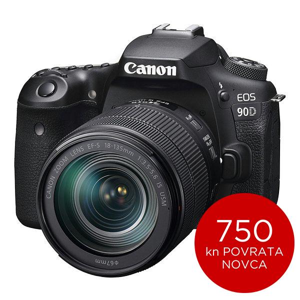Canon Digitalni fotoaparat EOS 90D EF-S 18-135 IS USM