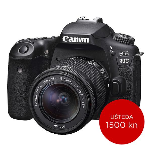Canon Digitalni fotoaparat EOS 90D EF-S 18-55 IS STM