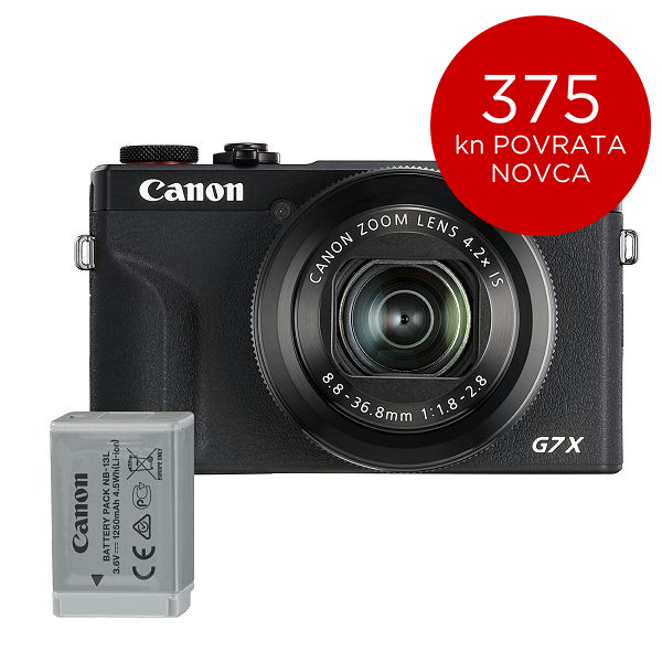 Canon Digitalni fotoaparat Powershot G7x Mark III BK BATTERY KIT