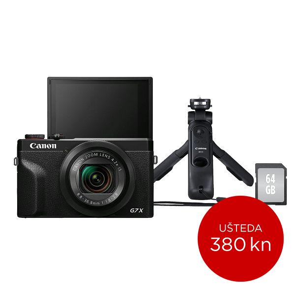 Canon Digitalni fotoaparat Powershot G7x Mark III VLOGGER KIT