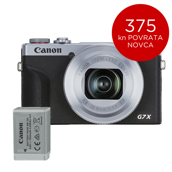 Canon Digitalni fotoaparat Powershot G7x Mark III SL BATTERY KIT