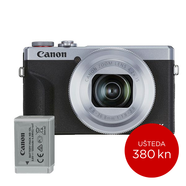 Canon Digitalni fotoaparat Powershot G7x Mark III SL BATTERY KIT