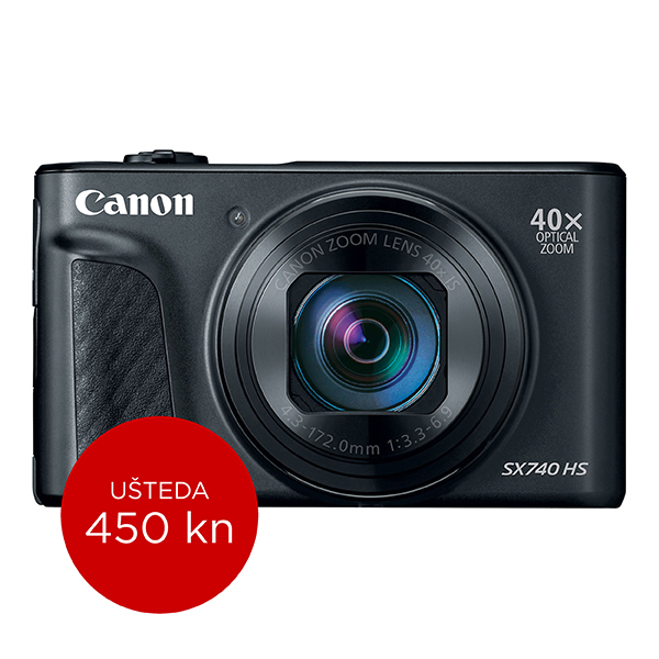 Canon Digitalni fotoaparat Powershot SX740HS BK