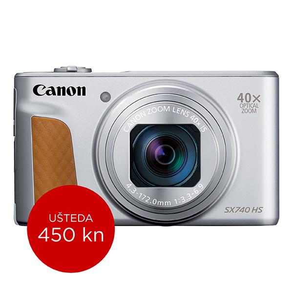 Canon Digitalni fotoaparat Powershot SX740HS SILVER