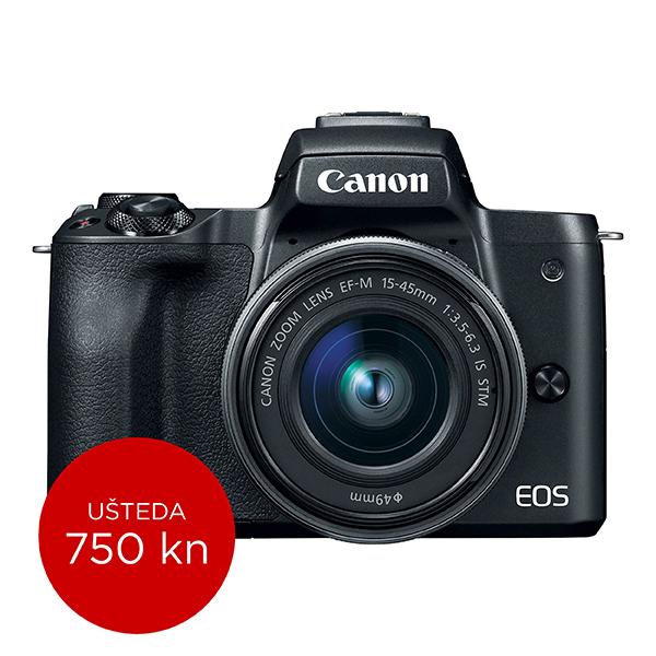 Canon Mirrorless Camera EOS M50 + EF-M 15-45mm IS STM (Black)