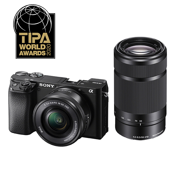 SONY Digitalni fotoaparat Alpha A6100 Double lens kit SEL1855 + SEL55210 Black